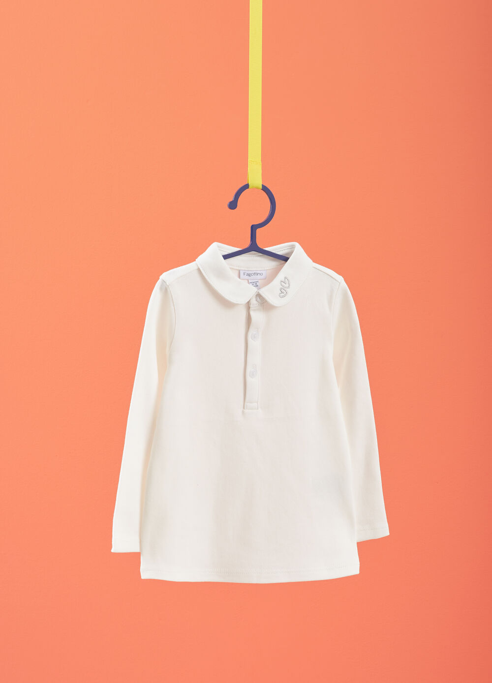 100% cotton polo shirt with hearts