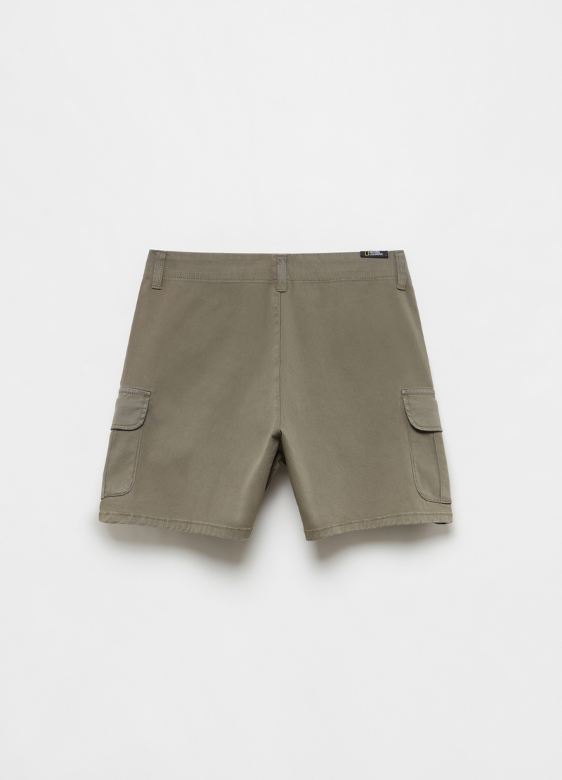 Bermuda shorts with National Geographic print image number null