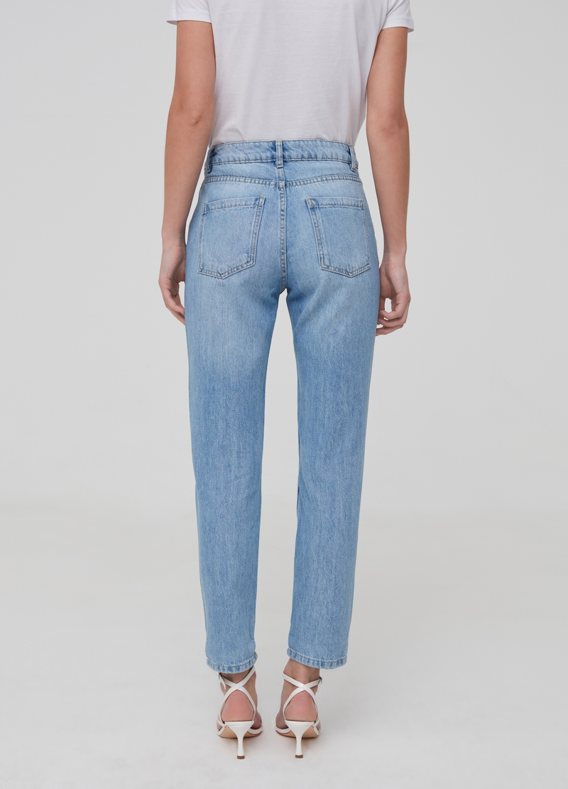 Mum-fit jeans with rips image number null