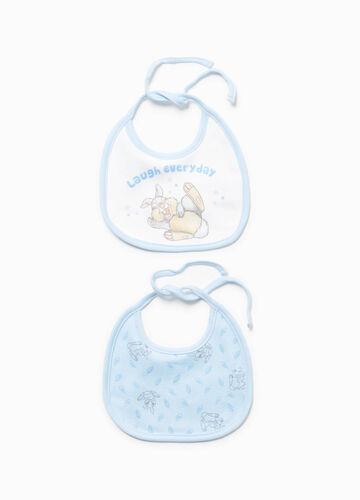 Two-pair pack Thumper patterned bibs