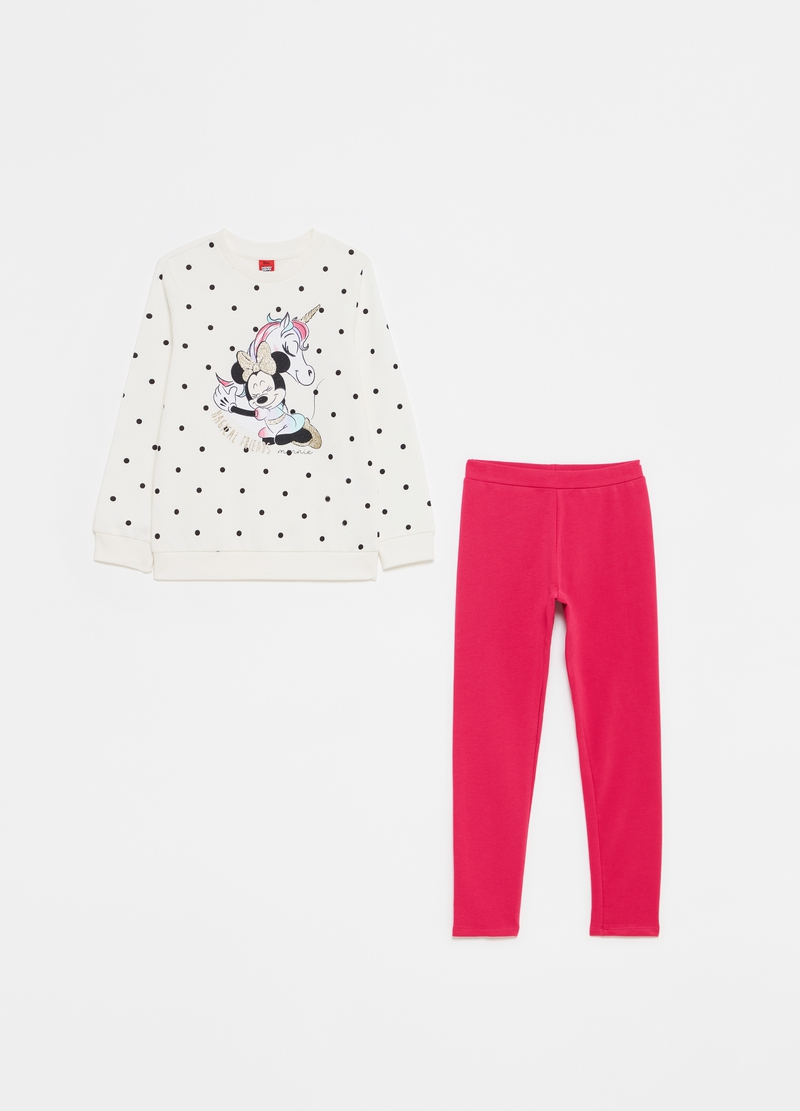 Jogging set a pois Disney Minnie image number null