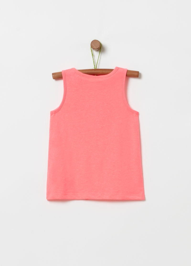 Tank top con stampa glitter image number null