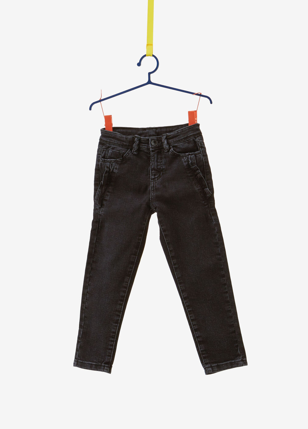Jeans skinny fit stretch con volant