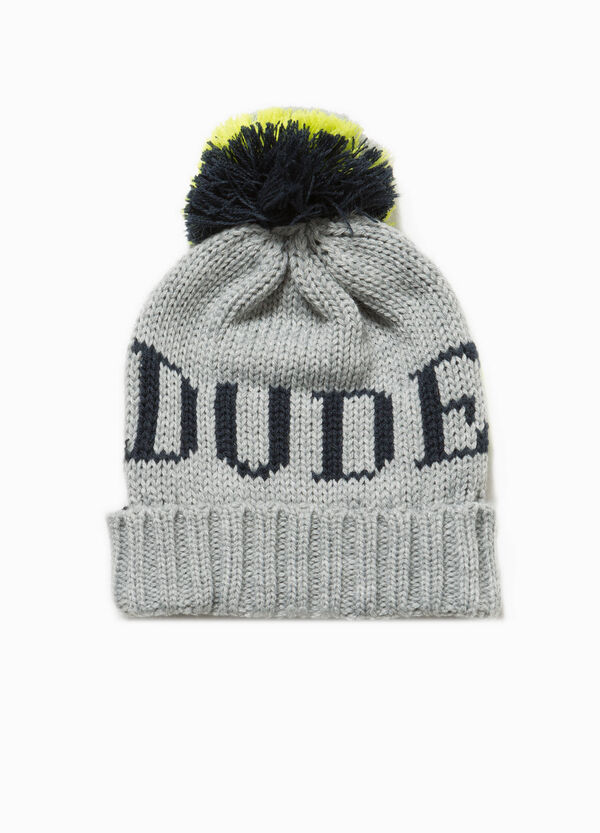 Two-tone knitted beanie cap | OVS