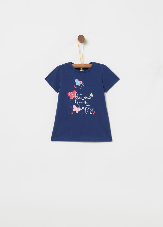 T-shirt cotone stretch stampa farfalle
