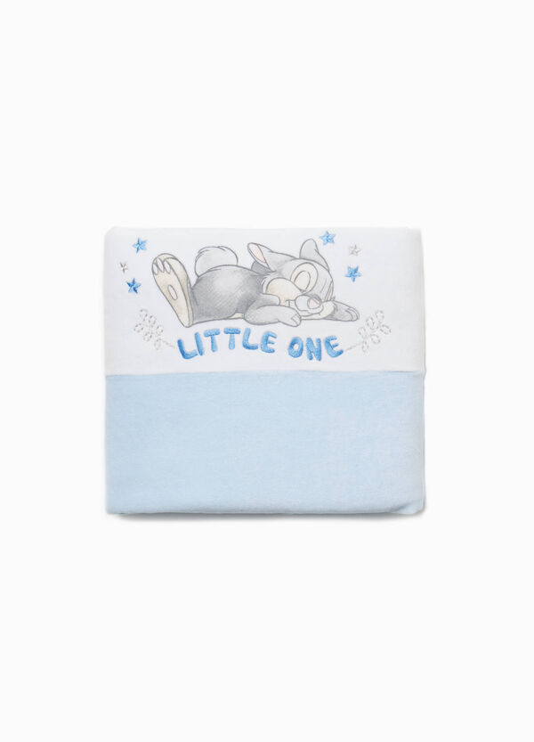 Blanket in cotton blend with Thumper print