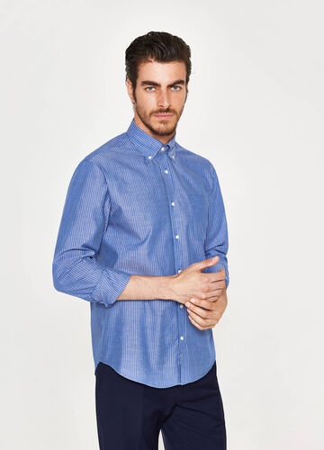 Regular-fit formal striped shirt