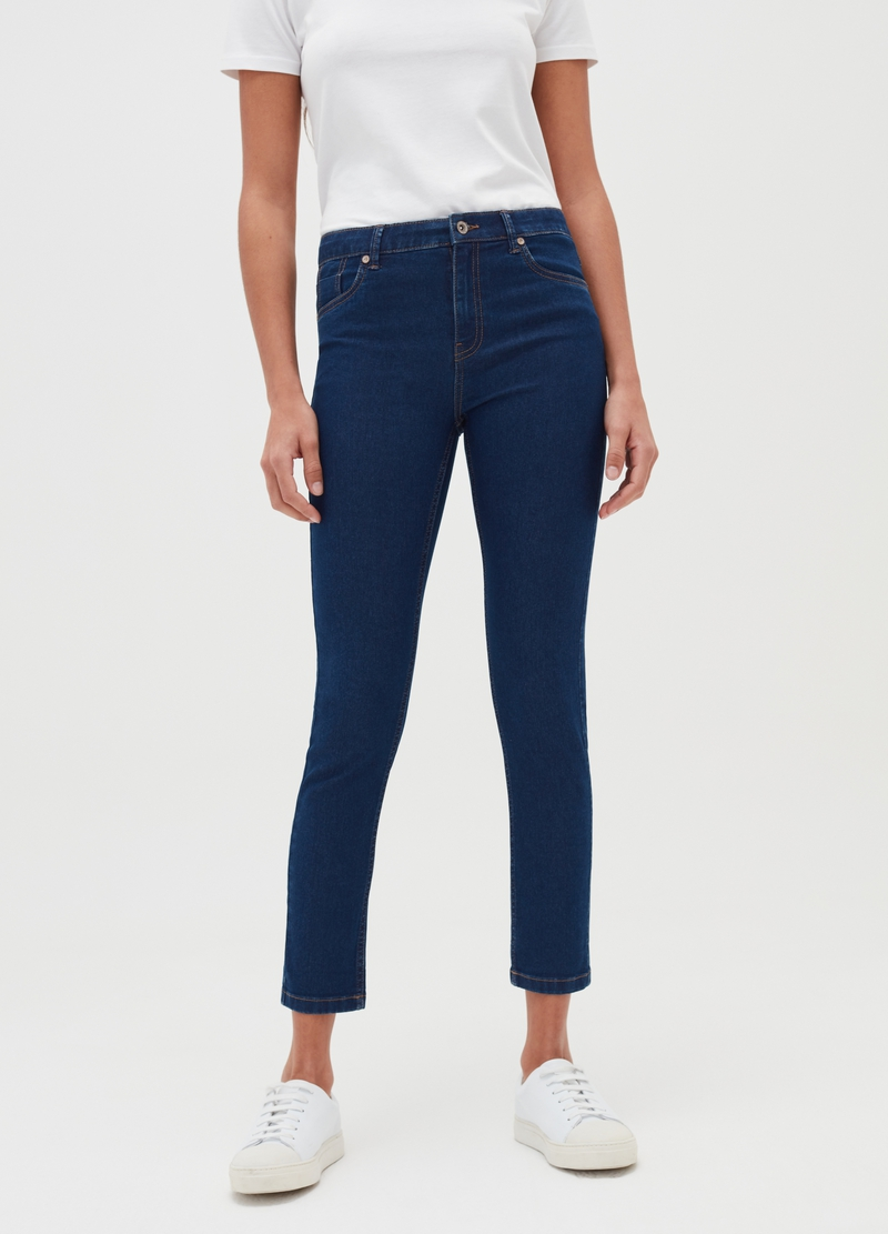 Skinny-fit crop jeans image number null
