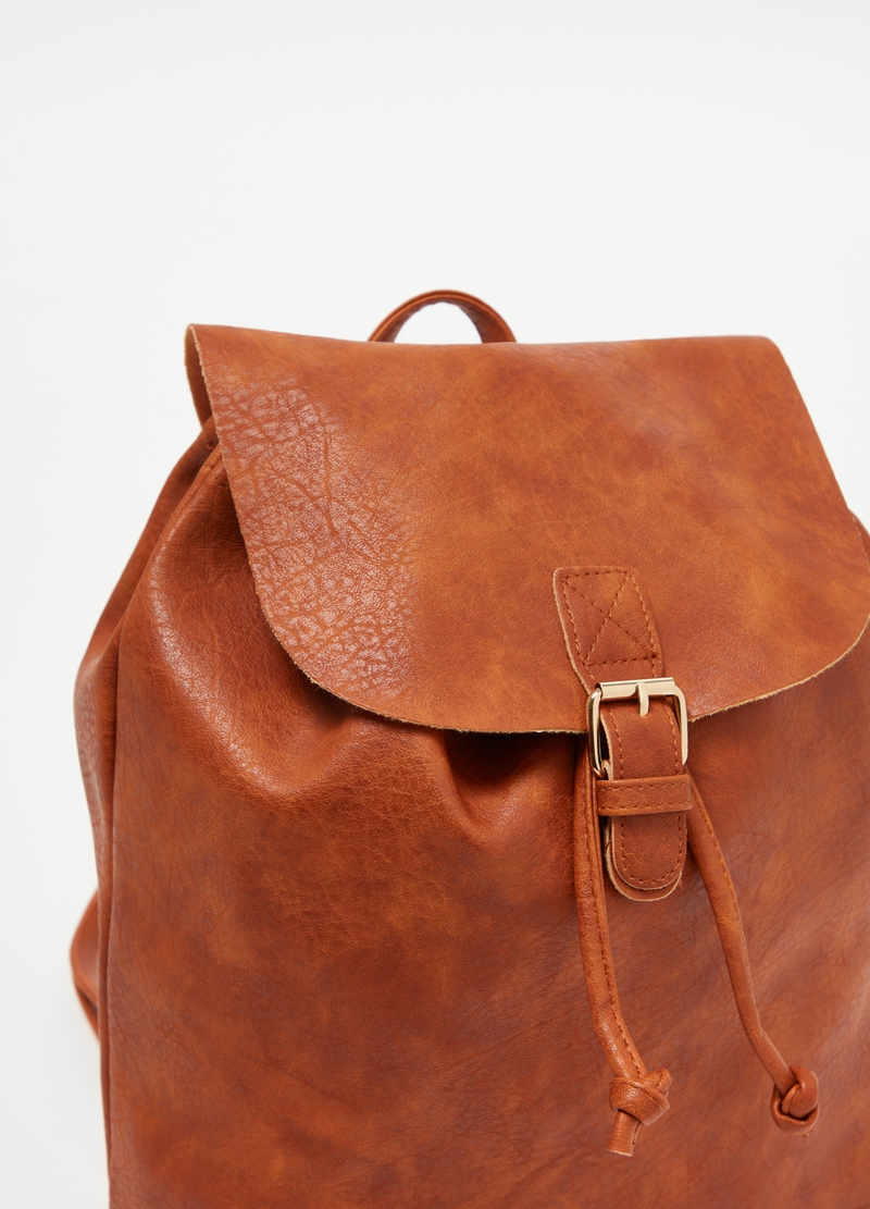 Backpack with flap and buckle image number null