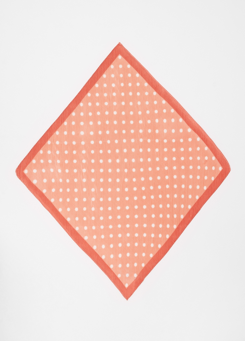 Pleated polka dot foulard image number null