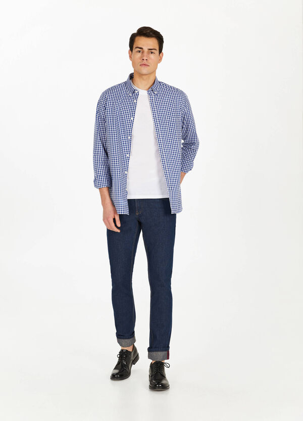 Check cotton casual shirt