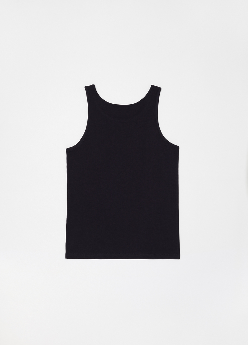 Racerback vest in 100% cotton with spaghetti straps image number null