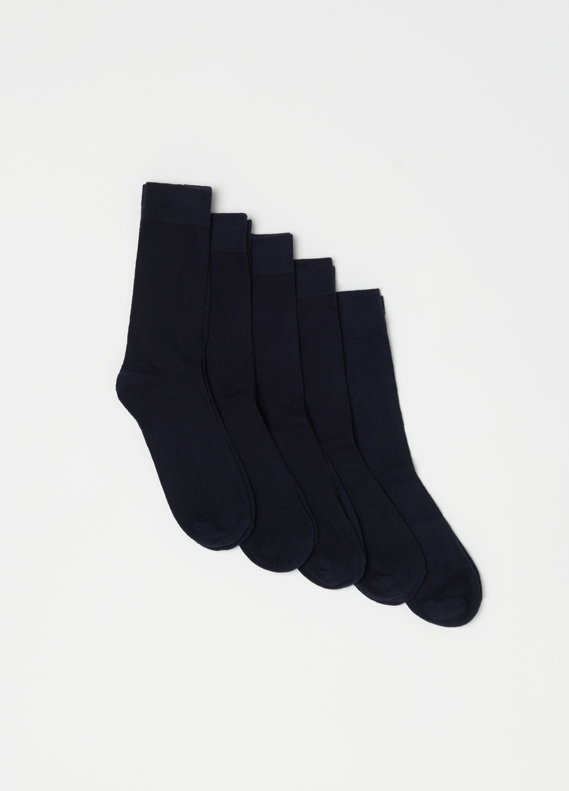 Five-pair pack stretch cotton socks image number null