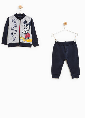 Tuta in cotone stampa Mickey Mouse