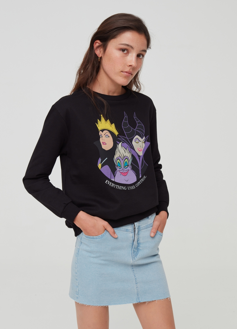 100% cotton sweatshirt with Disney witches image number null