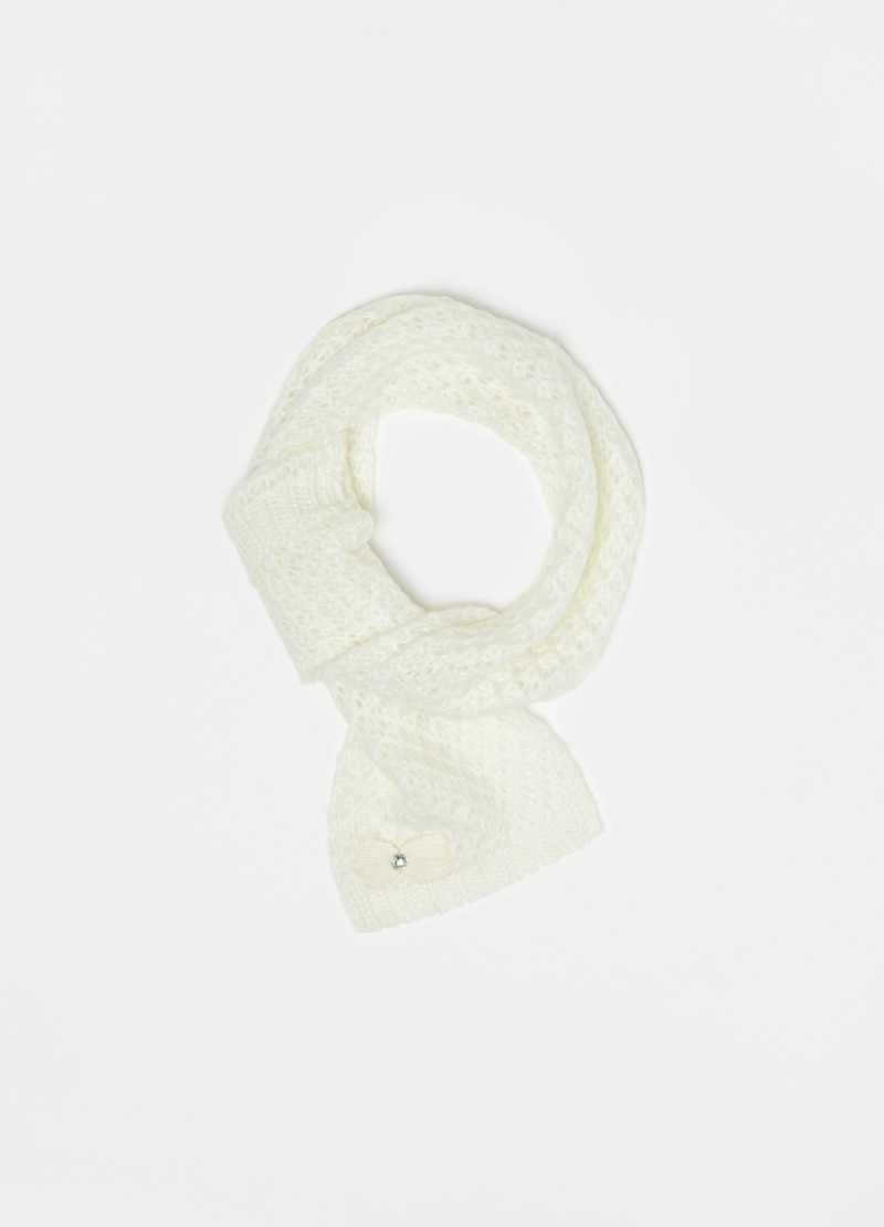 Scarf with lurex details and bow image number null