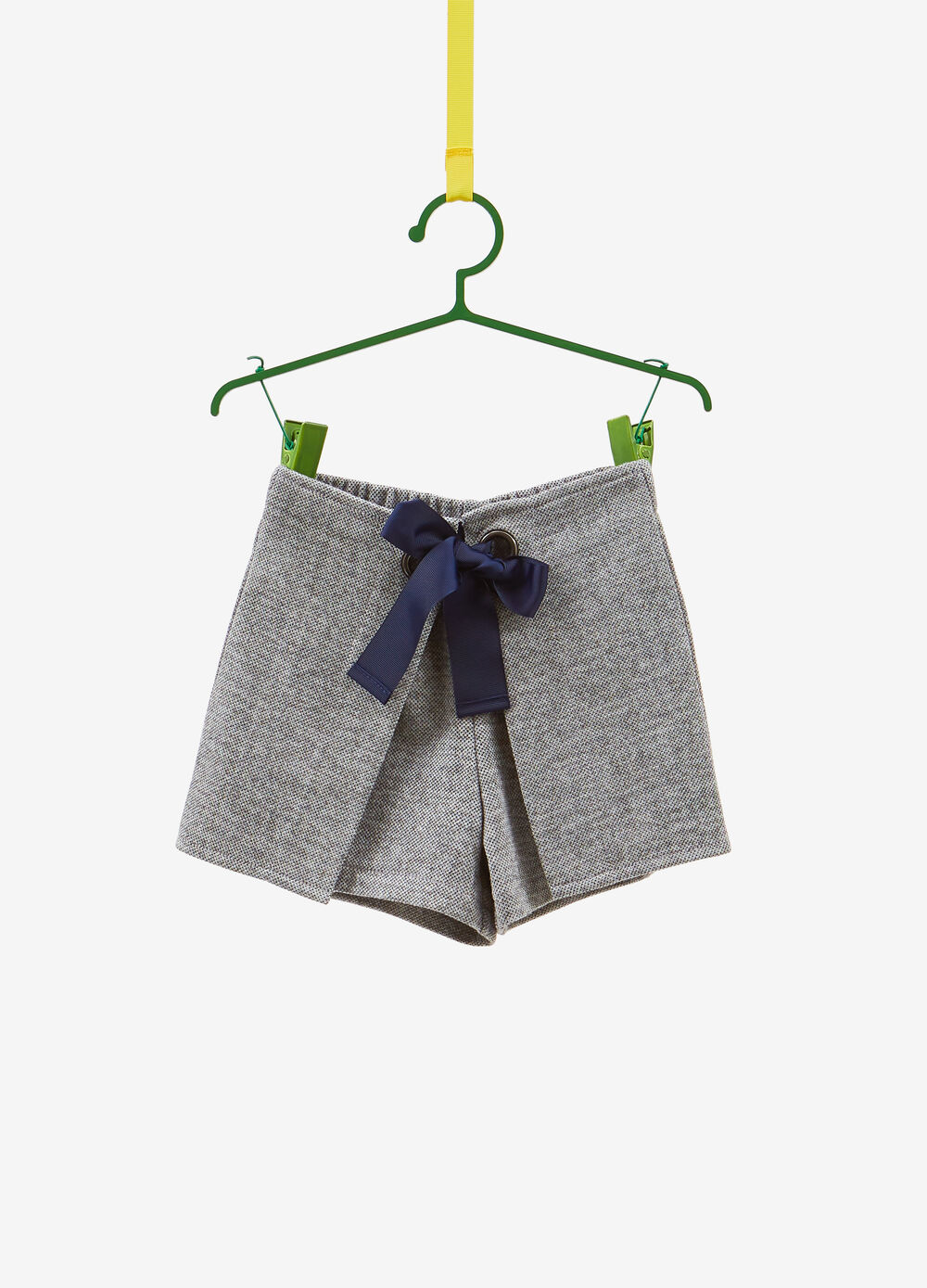 Shorts stretch con coulisse e inserti