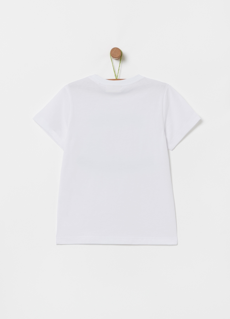 T-shirt puro cotone bio stampa image number null