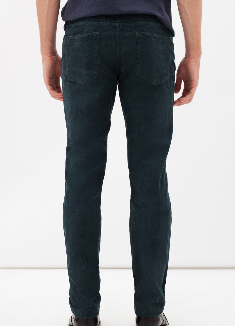 Pantaloni slim fit velluto stretch image number null