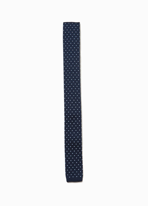 Polka dot patterned knitted tie | OVS