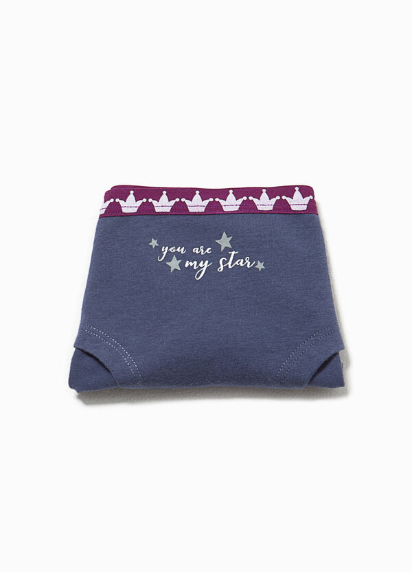 French knickers with lettering and crowns | OVS