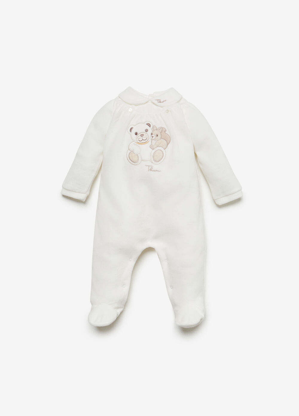 THUN Teddy cotton blend romper suit