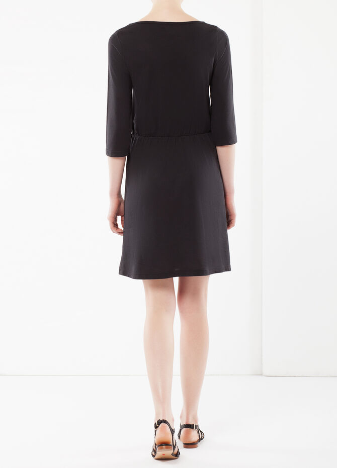 Three-quarter length sleeve dress