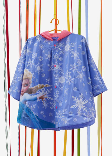 Rain poncho with Frozen pattern