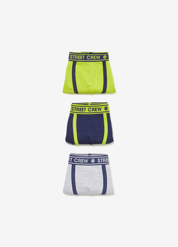 Three-pack stretch boxer shorts with lettering print