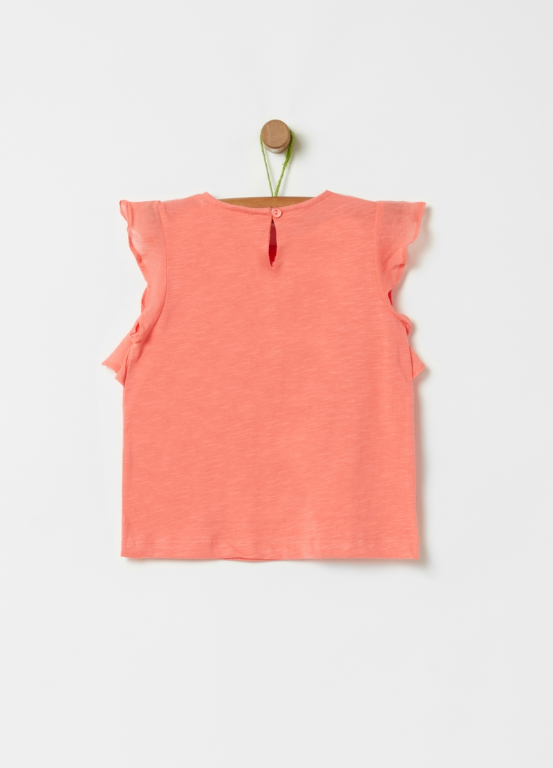 100% organic cotton T-shirt with frills image number null