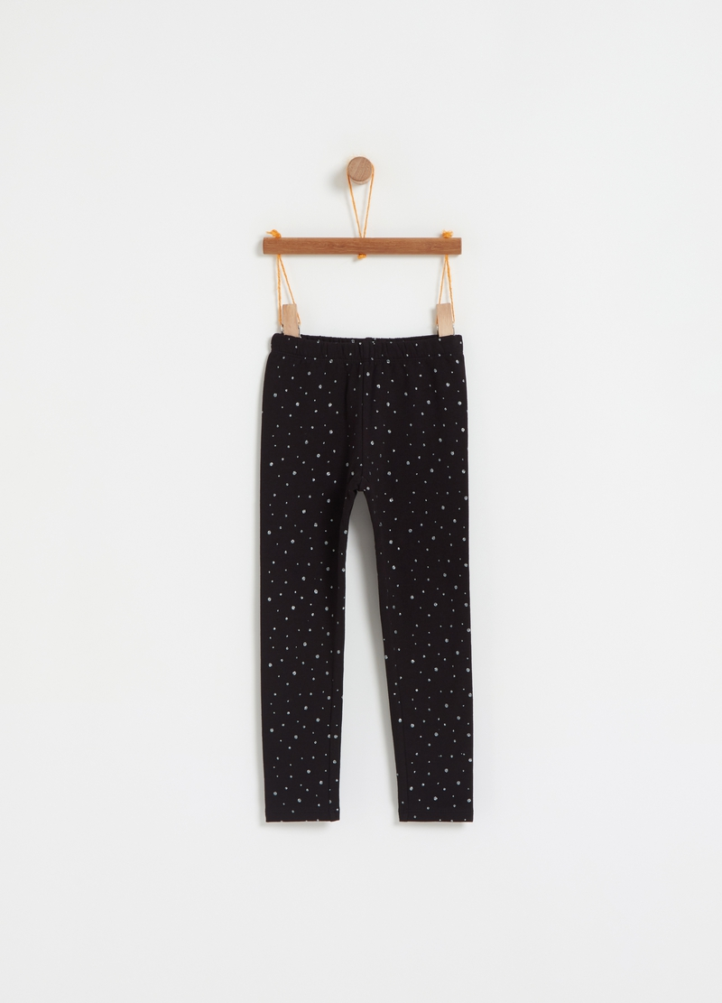 Leggings stretch a pois glitter all-over image number null