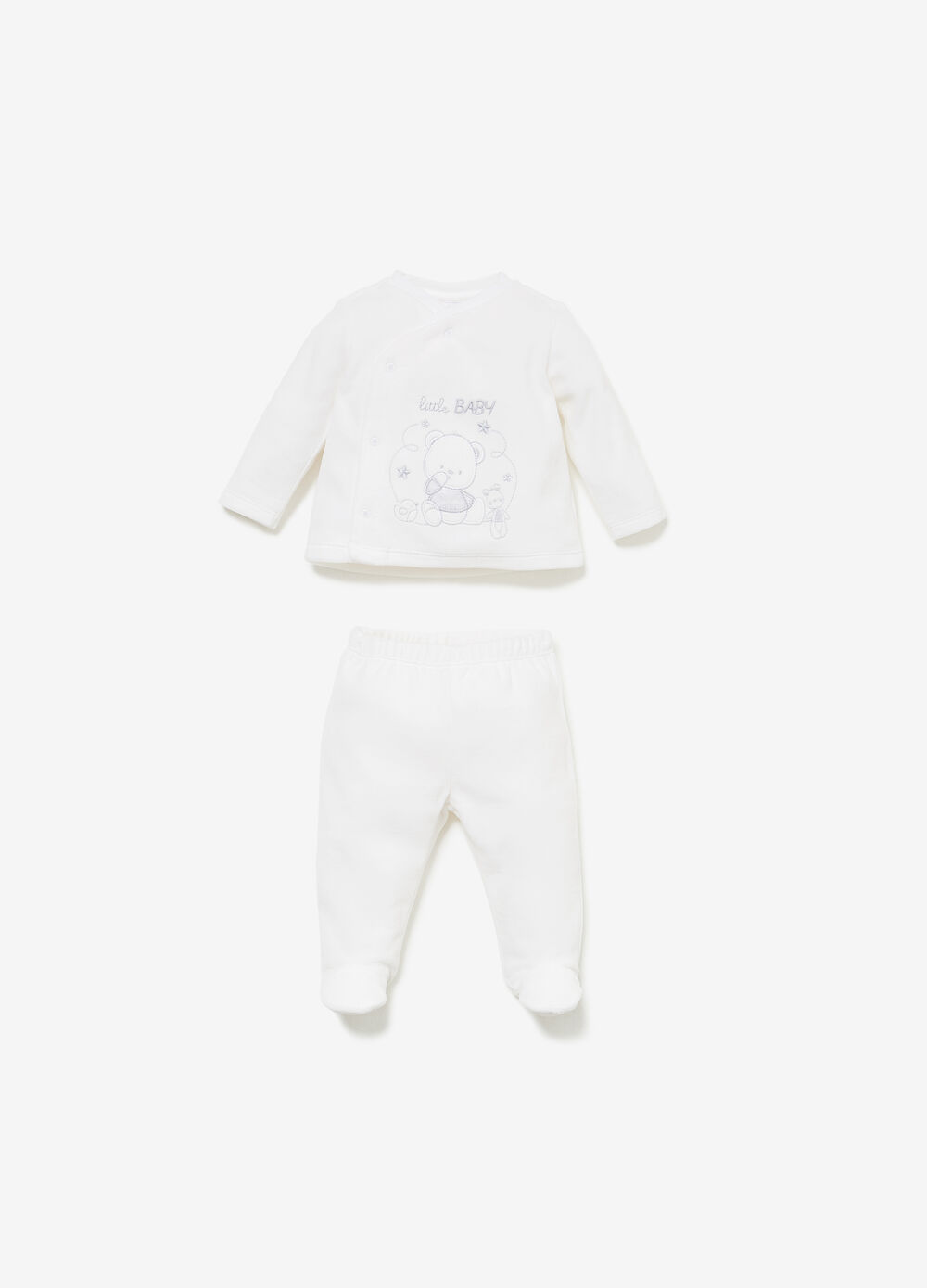T-shirt and baby leggings set with embroidery