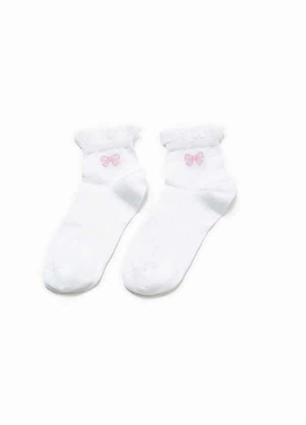 Short socks with glitter embroidery | OVS