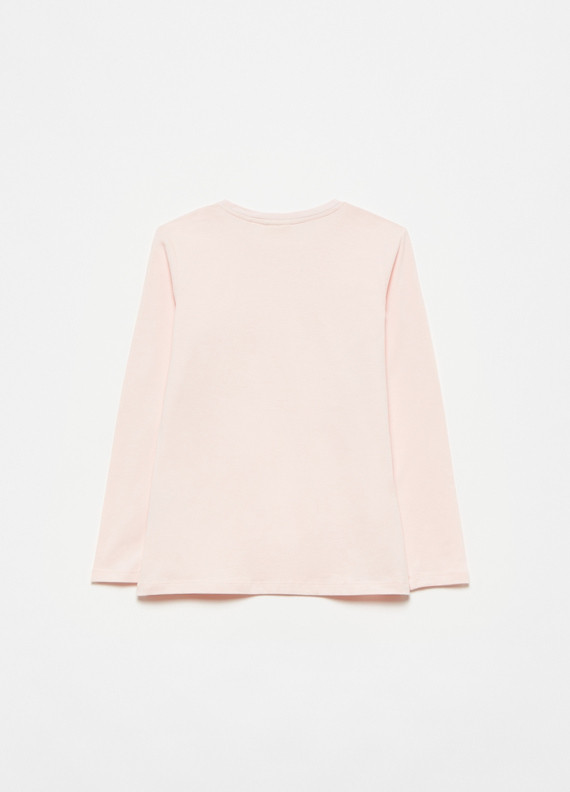 Long-sleeved T-shirt in stretch cotton image number null