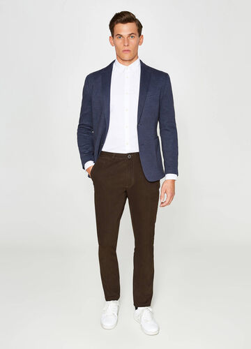 Micro patterned jacket in cotton blend
