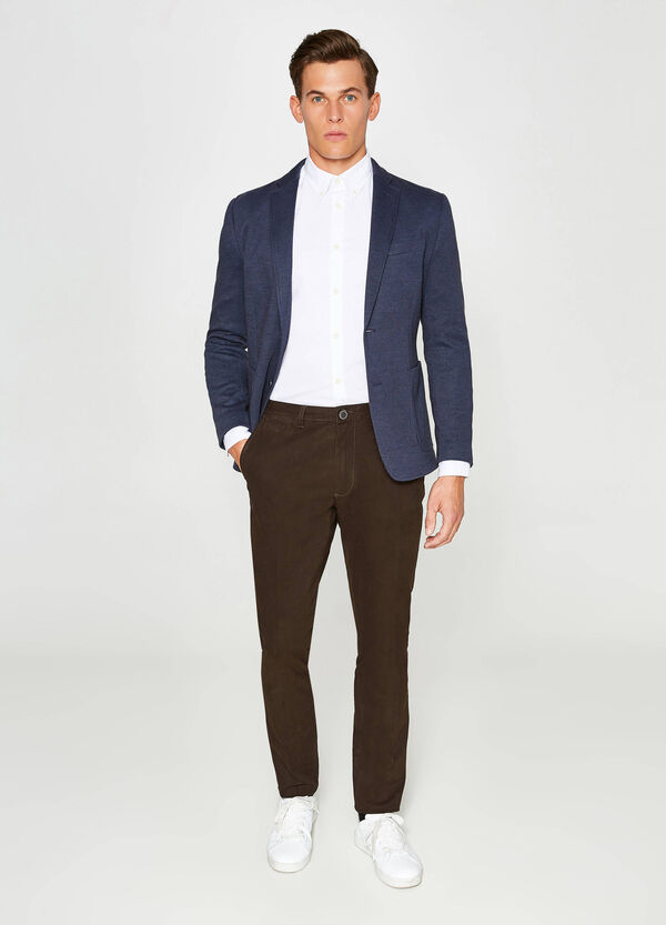 Micro patterned jacket in cotton blend | OVS