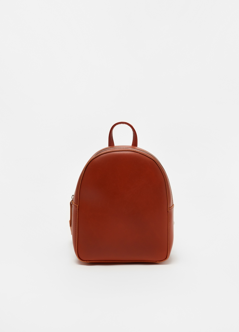 Oval backpack with zip image number null