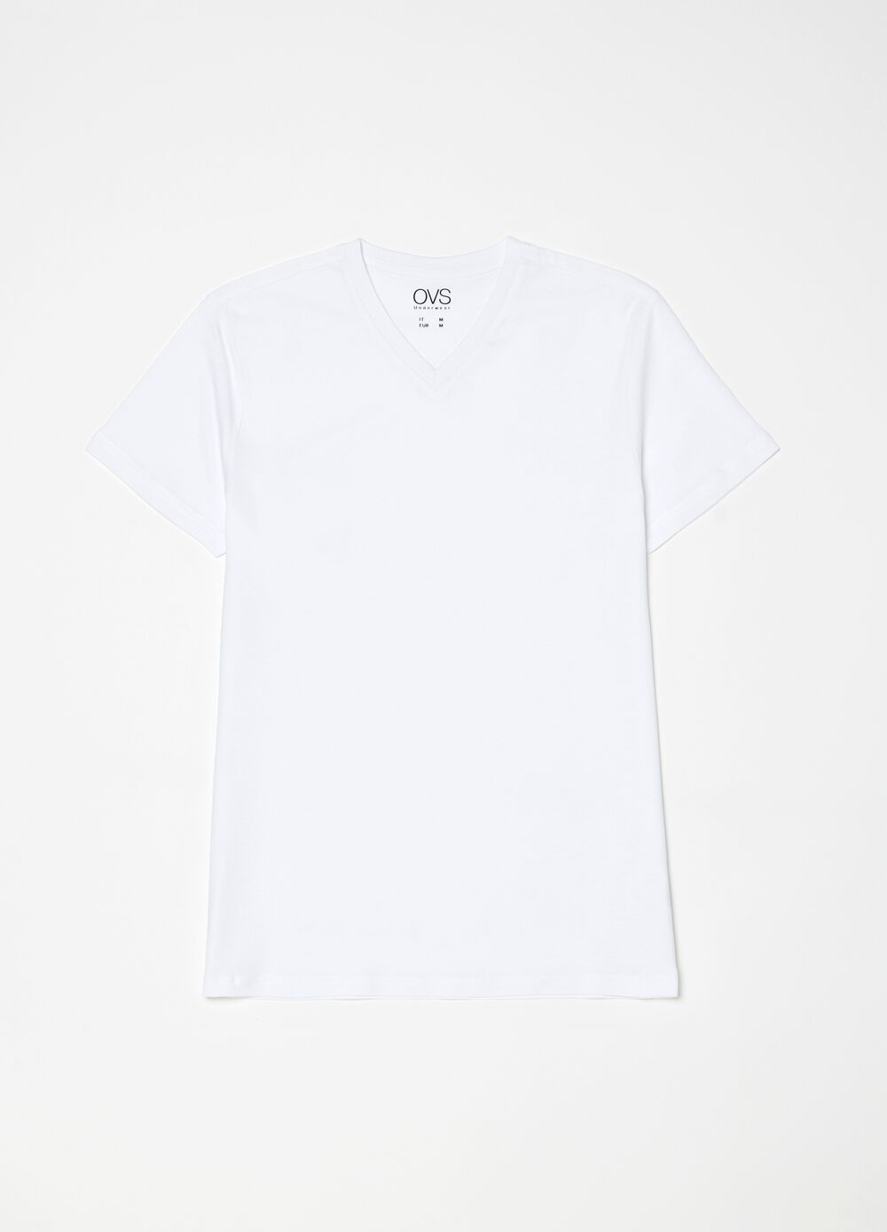 Three-pack T-shirts with V neck in 100% cotton