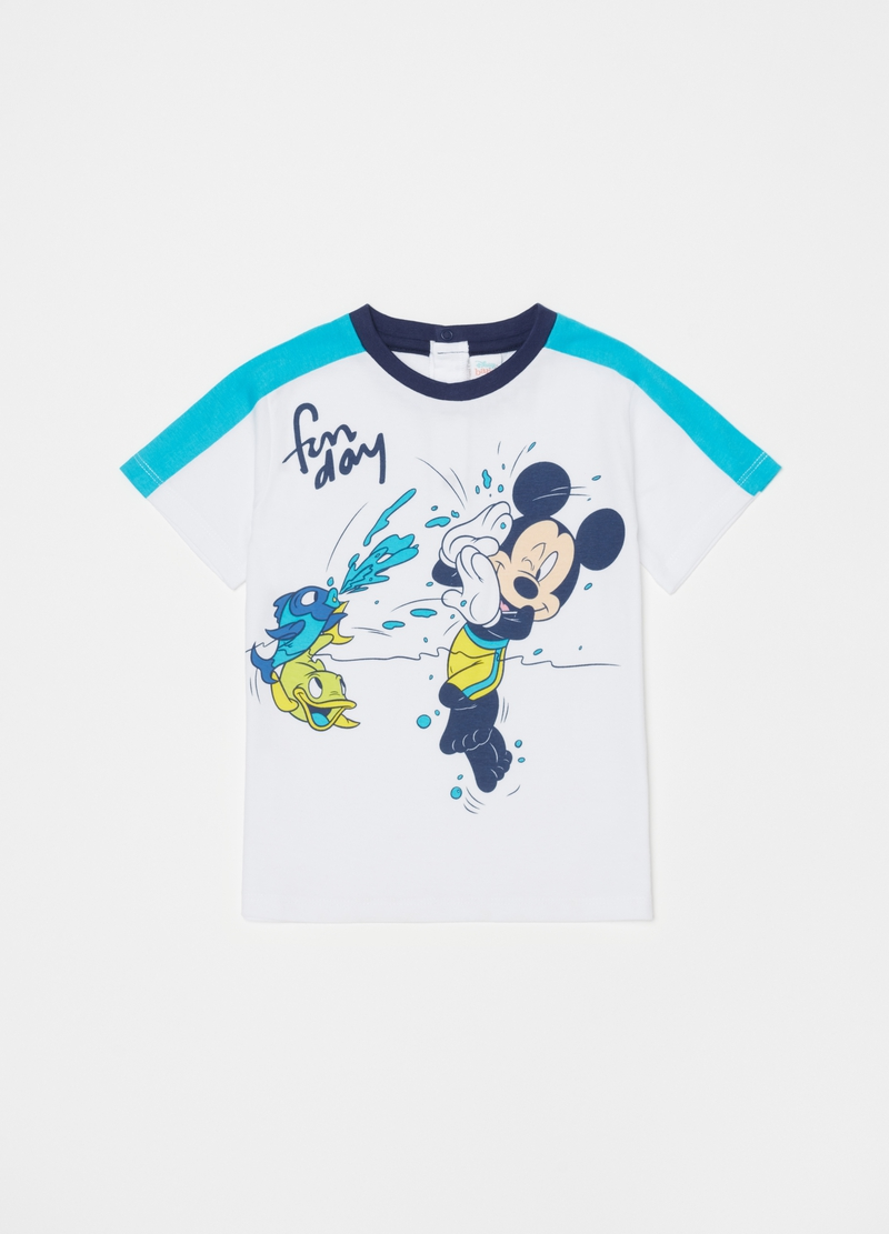 Short 100% organic cotton pyjamas with Mickey Mouse image number null