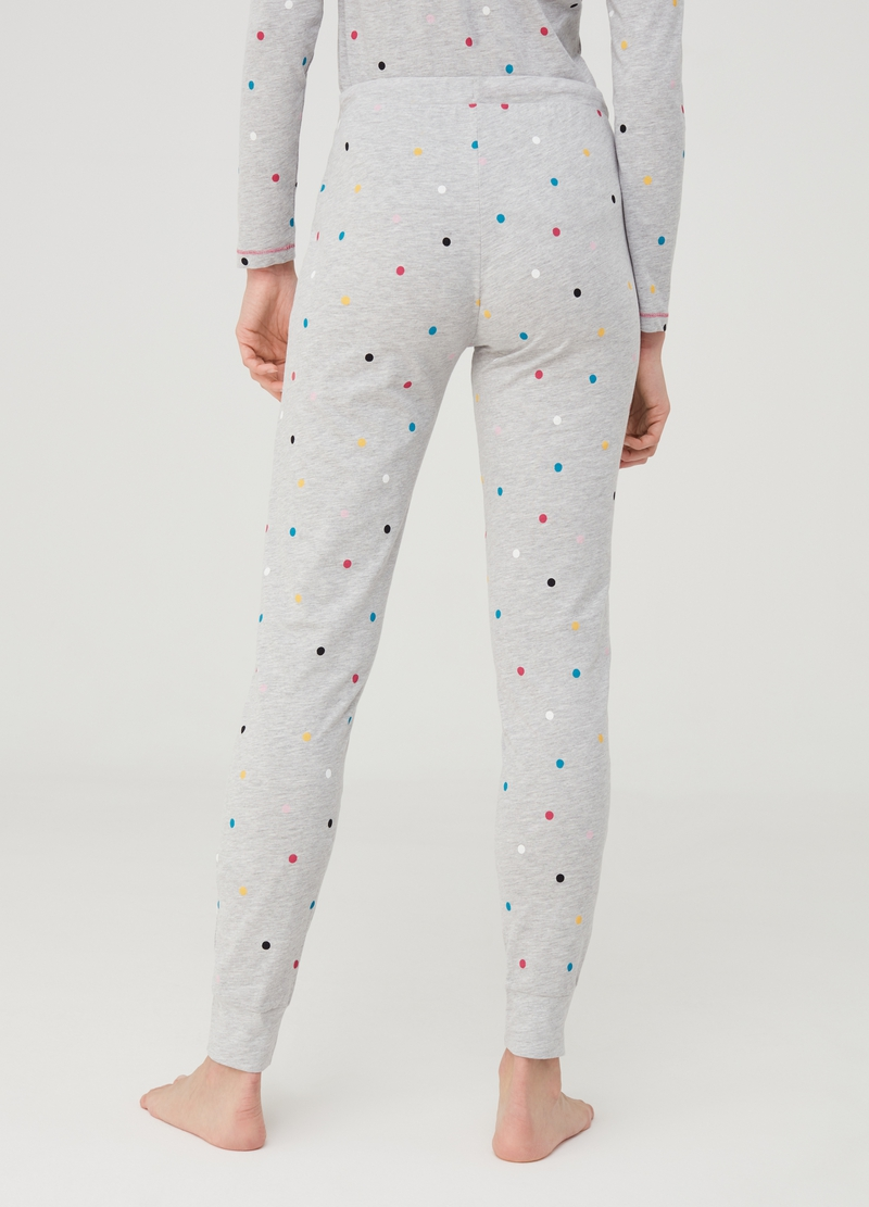 Pyjama trousers with polka dots image number null