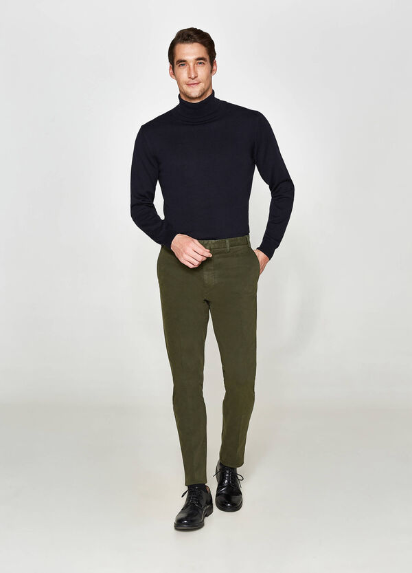 Rumford stretch cotton twill trousers