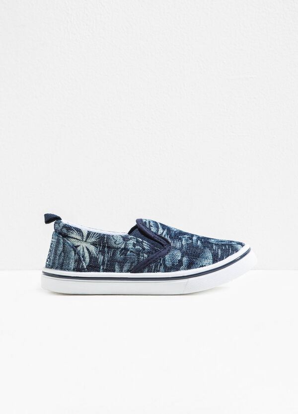 Patterned slip-on with canvas upper | OVS