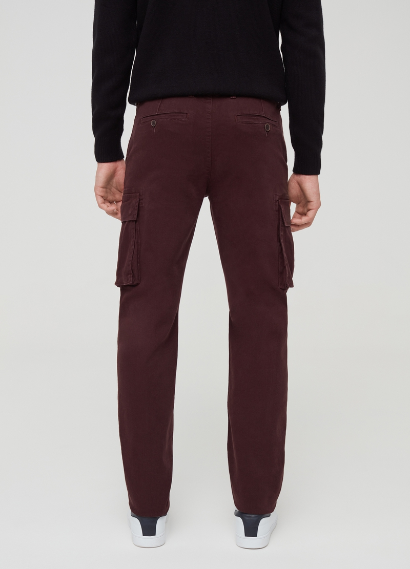 Stretch cargo trousers with pockets image number null