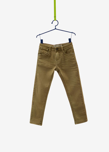 Solid colour, straight-fit stretch jeans