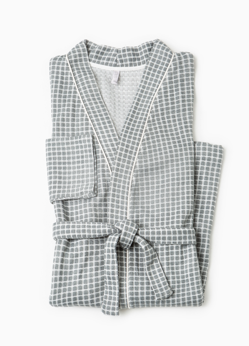Check pattern dressing gown image number null