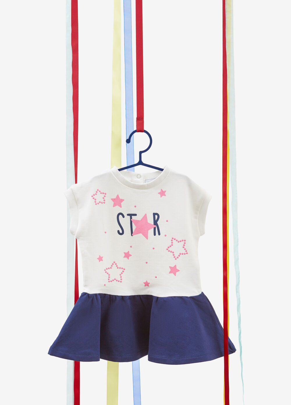 Stretch stars and studs cotton dress