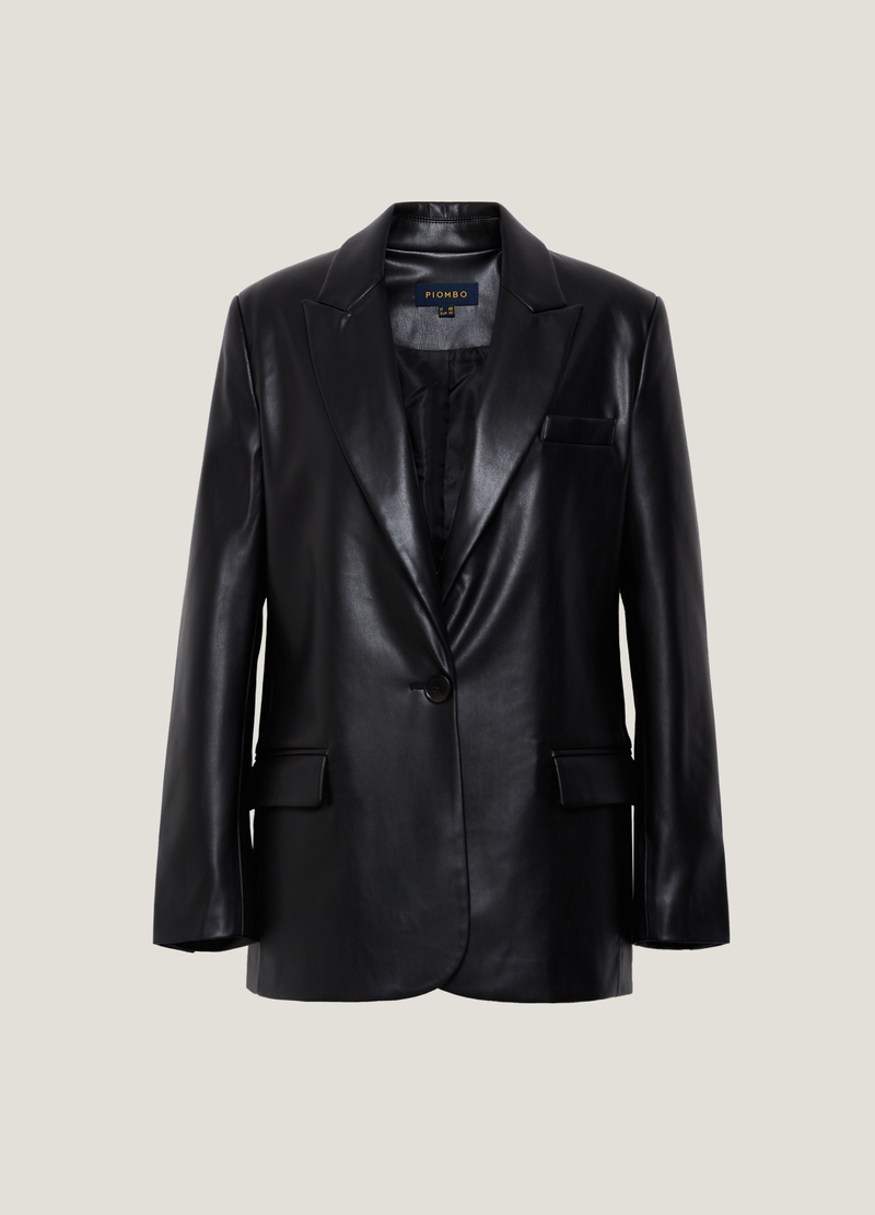 PIOMBO Blazer effetto lucido image number null