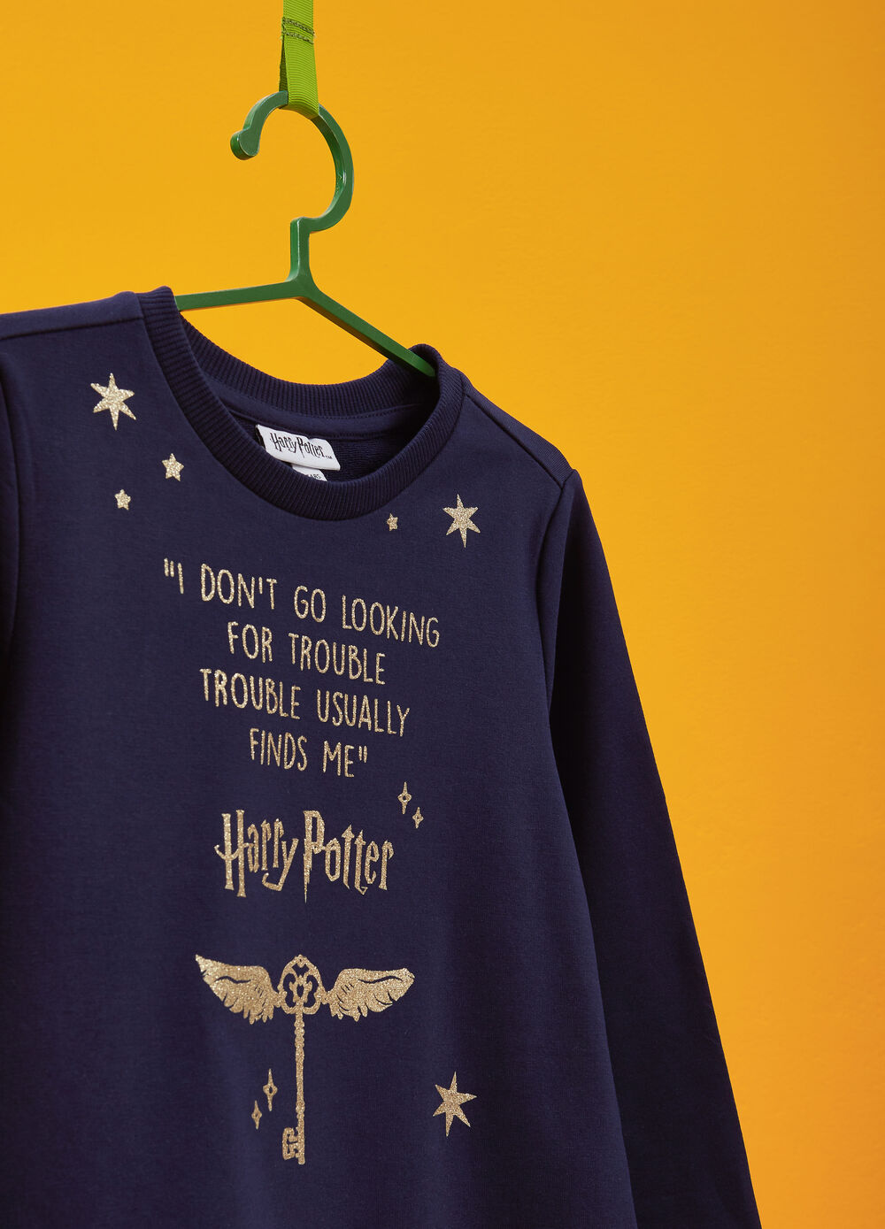 Sweatshirt with glitter Harry Potter print