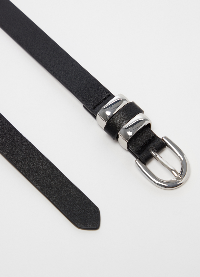 Belt in faux leather image number null