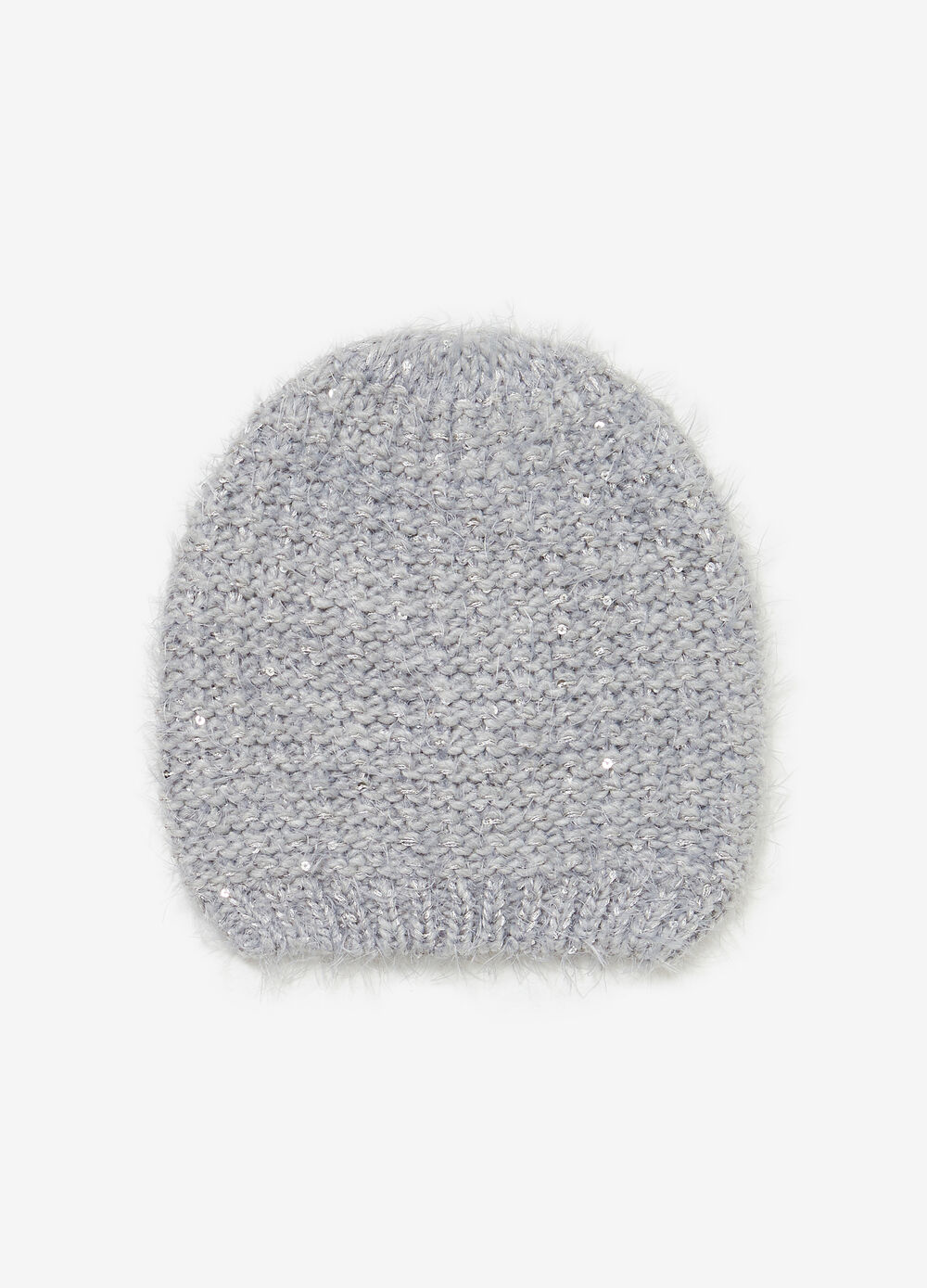 Beanie cap with sequins